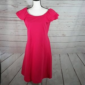 Bright pink cap sleeve Calvin Klein dress size 10